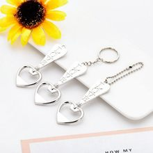50pcs/lot Heart LOVE Keychain Bottle Opener keyring beer openers For Wedding Party Gfit favors