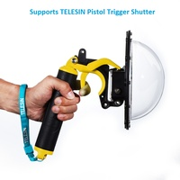 TELESIN Waterproof 30M 6 Dome Port And Float Bobber Handle For GoPro Hero 4 3 3