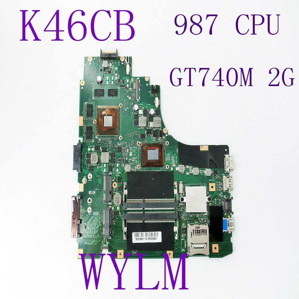 K46CB 987/1007CPU GT740M 2G N14P-GE-A2 GMA HD 4000 Motherboard For ASUS Laptop Mainboard HM76 DDR3 Full Tested free shipping n14p gt w a2