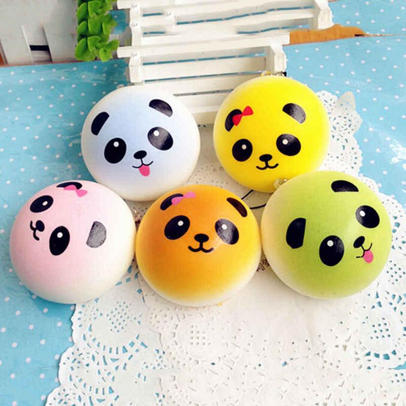 Mignon dessin animé visage squishy panda brioches Panda Squishies Super lente augmentation Fruits parfumés compression soulagement du Stress jouets pain Simulatio