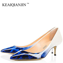 KEAIQIANJIN Woman Purple High Heels Shoes Big Size 43 44 45 Party Sexy Leopard Shoes Blue White Green Pink Wedding Bridal Shoes free shipping italy shoes and matching bag set for women for wedding party pink pu size 38 43 no gf13 pink