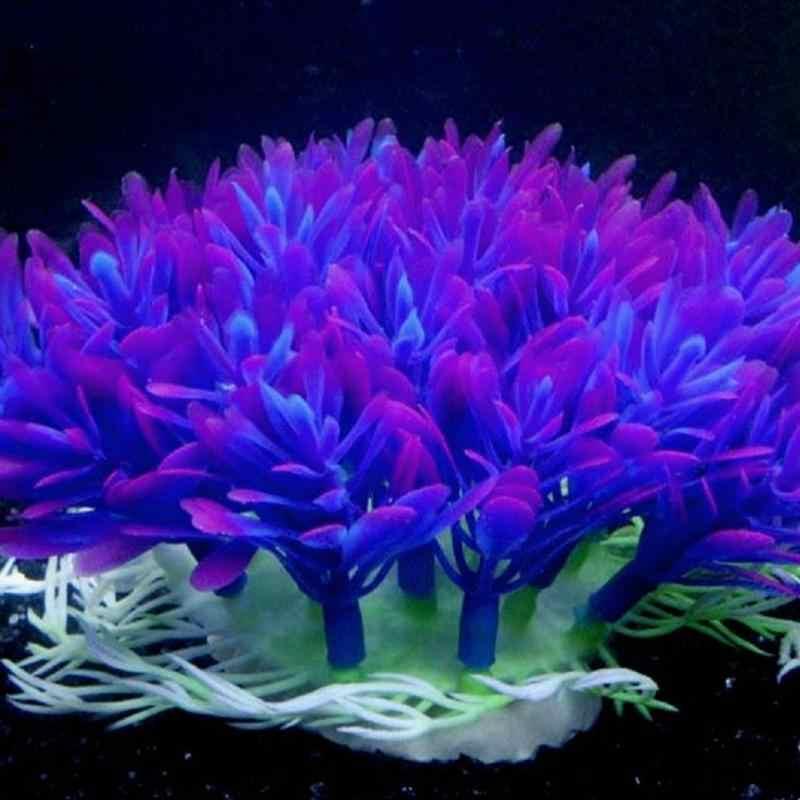 Soft Purple Aquarium Underwater Water Plant Fish Tank Water Plants For Home Decoration