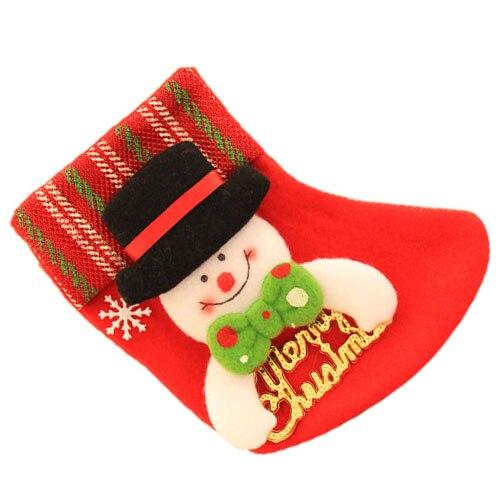 Рождественские носки дерева кулон рождественские украшения Red Hat Снеговик