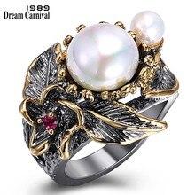 DreamCarnival 1989 bardzo polecam najlepiej sprzedających perła kolekcja pierścień dla kobiet kwiat w stylu bohema projekt Drop Shipping prezent WA11611