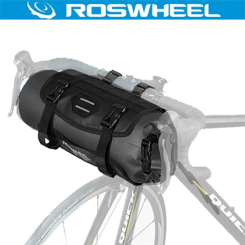 ROSWHEEL retrousser fermeture 3-7L sacs de cyclisme grand complet étanche vélo sacoche vélo guidon avant panier poche accessoires