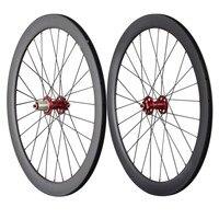 50mm clincher carbon disc wheels road bike wheelset 28/28H UD matt Powerway M71 bicycle wheelset 50C
