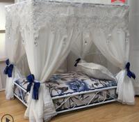Делюкс суд КРОВАТЬ pet мишки Собака дом принцесса гнездо для домашних животных железная кровать