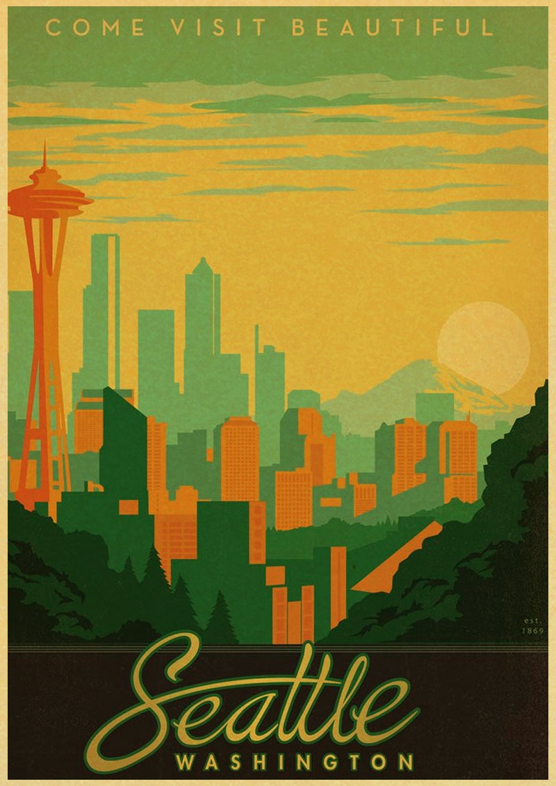 Maui Hawaii Vintage poster Classic design character retro posters ...