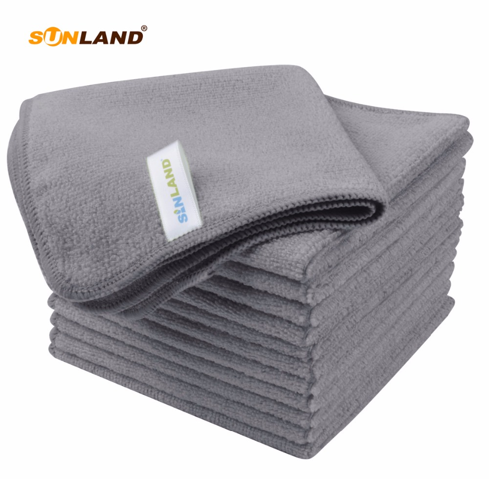 "Sinland 12PC/lot 12""x12"" Absorbent Fast Drying Microfiber Towel Dish Cloth Car Cleaning Cloth Wiping Rags Towel NEW 2018"