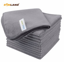 12PC/lot 12x12 Absorbent Microfiber Towels Micro Fiber Cleaning Cloths Wiping Dust Rugs Manufacturer