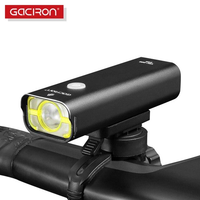 Gaciron תחרות רמת אופניים אור 800 לום כידון פנס 5 מצבים חוט מתג 2500mAh IPX6 עמיד למים אופניים מול אור