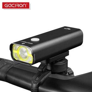 Image 1 - Gaciron poziom konkursu światło rowerowe 800 lumenów reflektor na kierownicę rowerową 5 trybów przełącznik drutu 2500mAh IPX6 wodoodporny rower przednie światła