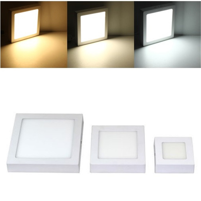 9W 15W 25W LED Surface Ceiling Light Squaer Panel LED Down Lamp AC85-265V Warm White Natural White Cold White LED Indoor Light free shipping dimmable 48w 600x600mm led panel light high brightness led chips warm white natural white cold white available
