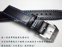 Роскошный мужской ремешок ручной работы 20 мм 21 мм 22 мм мягкая телячья кожа темно-синий ремешок для часов для Tissot Seiko
