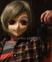 silicone half head male full face short hair red eyes kigurumi anime mask kigurumi cosplay role eye color can be customize