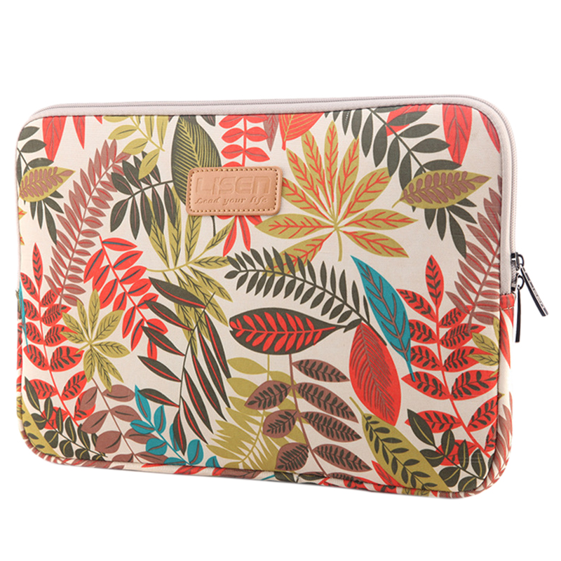 LISEN Laptop Sleeve Case 13 inch Computer Bag, Notebook,For ipad,Tablet,For MacBookWhite Forest)