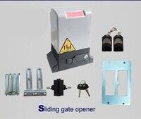 אוטומטי הזזה שער פותחן שער מערכת מנוע סט עבור 500 kg הזזה שער עם 2 בקרים מרחוק
