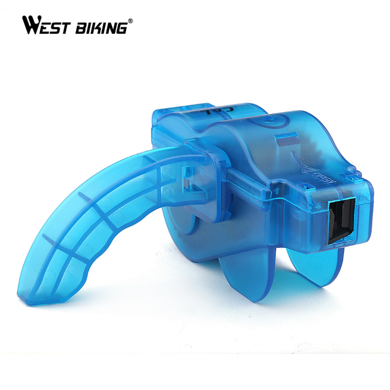 WEST BIKING Bicycle Chain Cleaner Bike Clean Machine Brushes Scrubber Wash Tool Outdoor Mountain Cycling Chain Cleaner Tool Kits