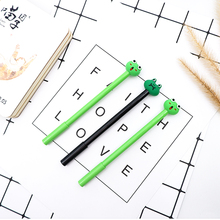 2pcs/lot Cartoon Creative kawaii Cute frog 0.5mm black gel pen creative Neutral School office stationery gift