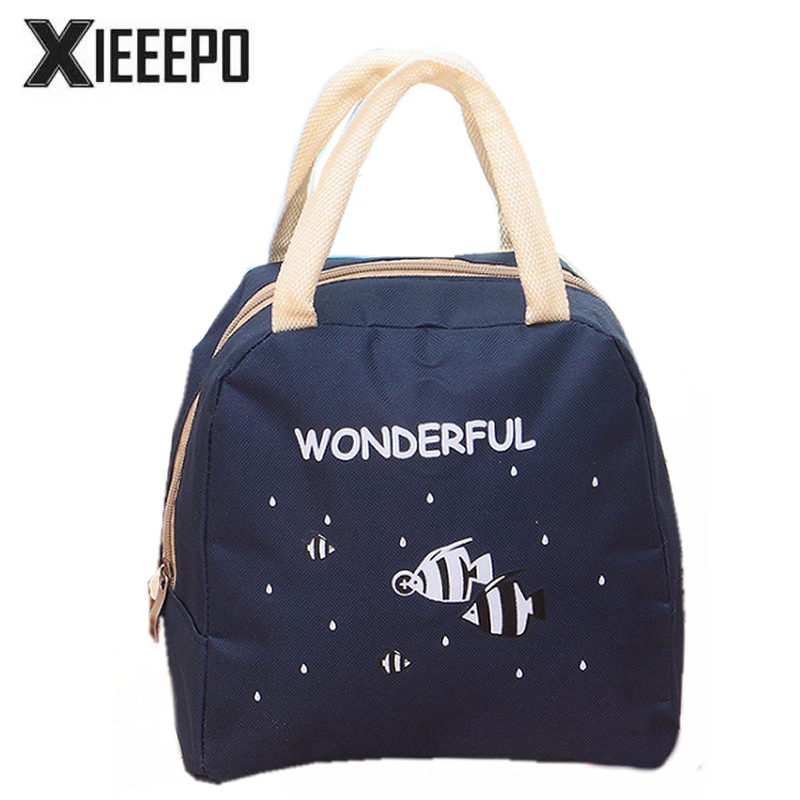 Women Portable Insulated Lunch Bags Cartoon Animals Thermo Cooler Bags Thermal Food Picnic Kids Girl Lunch