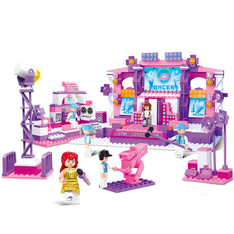 0255 430pcs Girls Dream Stage Constructor Model Kit Blocks Compatible LEGO Bricks Toys for Boys Girls Children Modeling0255 430pcs Girls Dream Stage Constructor Model Kit Blocks Compatible LEGO Bricks Toys for Boys Girls Children Modeling