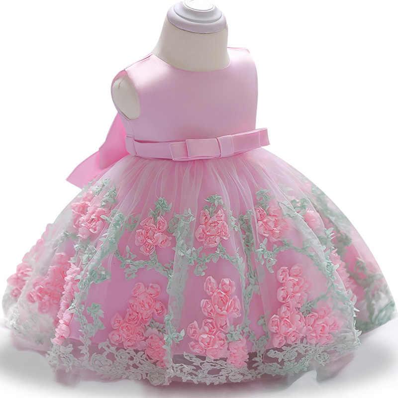 1st שנה יום הולדת שמלת קיץ תינוק בנות שמלת תינוק נסיכת שמלת הטבלה שמלת המפלגה שמלת יילוד תינוק בגדים