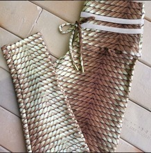 Knitting Rope Print Patchwork Leggings