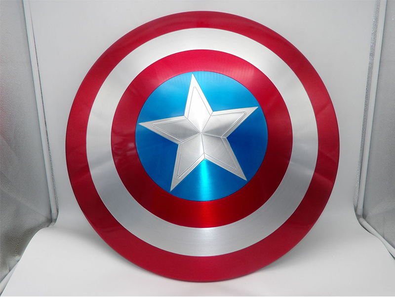 1//1 Metal Alloy Shield Ver For Avengers Captain America Cosplay  NEW