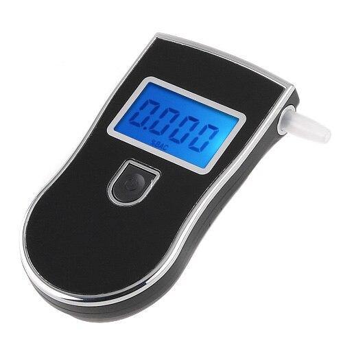 Polizia di Alta precisione Digital Breath Alcohol Test Etilometro Bocchini Analizzatore Portatile LCD Con retroilluminazione di colore Blu