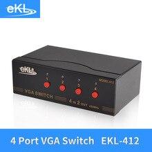 EKL 4x Input 2x Output VGA Splitter Switch 4 Way Switcher Resolution 1920×1440