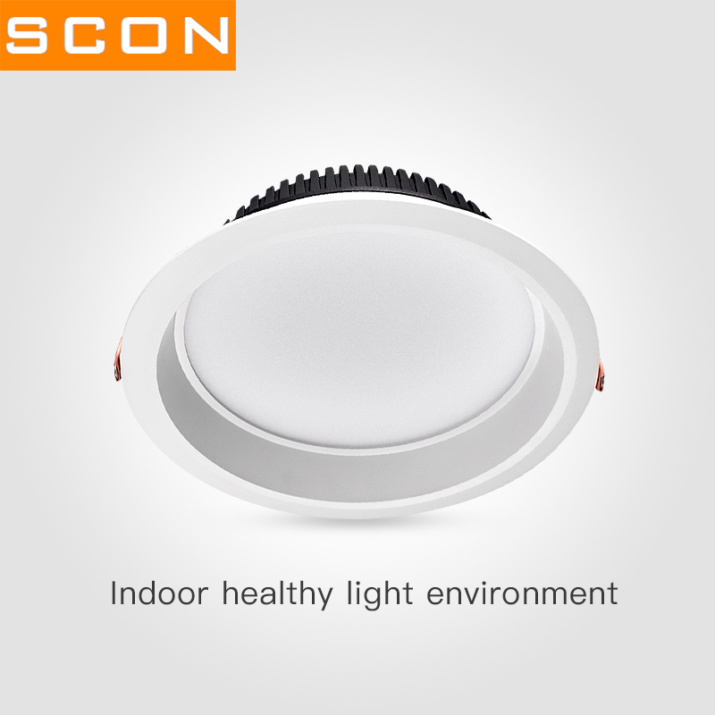 SCON embedded LED anti fog Downlight 3inch 7W 4inch 12W OSRAM 3000K 4000K 6000k RA>85 office supermarket modern indoor light light indoor light led light led light - title=