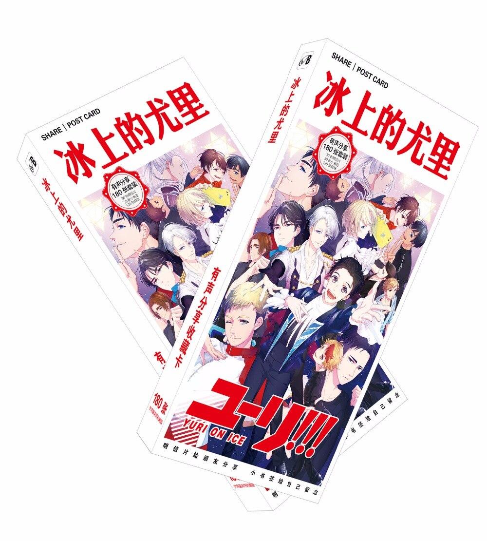 180pcsset Japanese Anime Yuri On Ice Paper Postcardgreeting Card