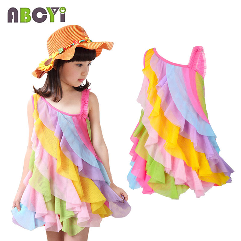 Aliexpress.com : Buy Layered Girl Dress Summer Style Children ...