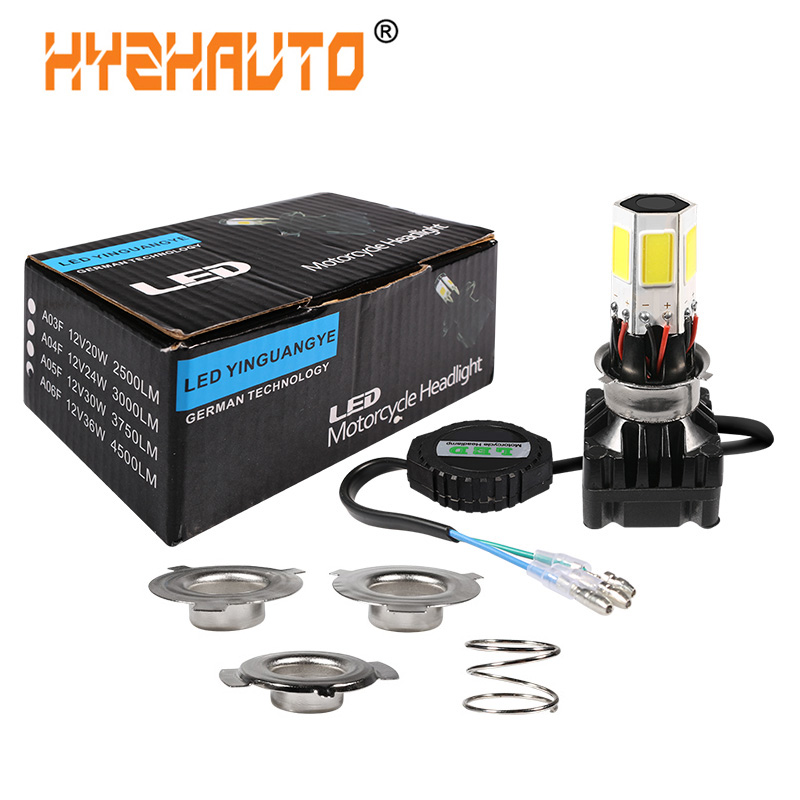 Design; Intellective 1set H6 Ba20d Led Moto H4 Hs1 P15d Led Motorcycle Headlight 6cob 4500lm 36w Motorbike Electricbike Atv Scooter Led Headlight Novel In