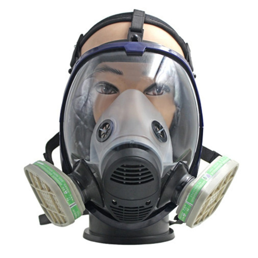 Full Facepiece Respirator Gas Mask Anti-dust Anti Ammonia Gas Safety Mask with Filter for Industry Painting Spraying anti dust anti ammonia gas safety mask full facepiece respirator gas mask with filter for industry painting spraying