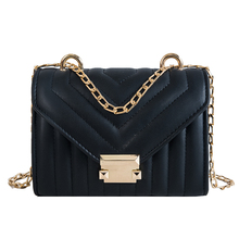 Solid Color Chain Pu Leather Crossbody Bags For Women 2019 Small Shoulder Messenger Bag Lady Lock Handbags and Purses Hand Bag цены