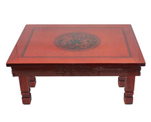 Korean Table Folding Leg 60*45CM Rectangle Living Room Tea Table Traditional Style Asian Antique Furniture Low Dining Wood Table