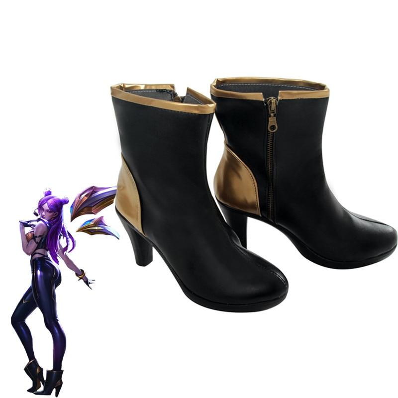 Computer Games KDA KAISA Cosplay Shoes KAISA Cosplay Boots Women Shoes Game K/DA KAISA Cos High-Heeled Shoes Boots 7CM