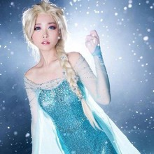 Snow Ice Queen Elsa Costume  Froze Princess Dress Only Cosplay Adult Halloween Christmas Carnival Party Fancy Girl Wedding цены онлайн