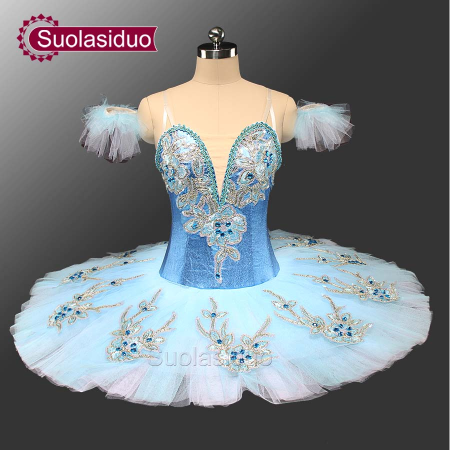 Professional Ballet Performance Tutu Dresses Children Kids Girl Adult Stage Wear