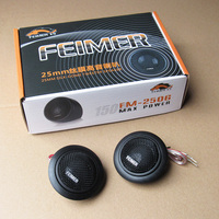 New Arrival Car Tweeter Sound Modification High Pitch Silk Membrane Car Styling Auto Audio Speaker Car Dome Tweeter QP187