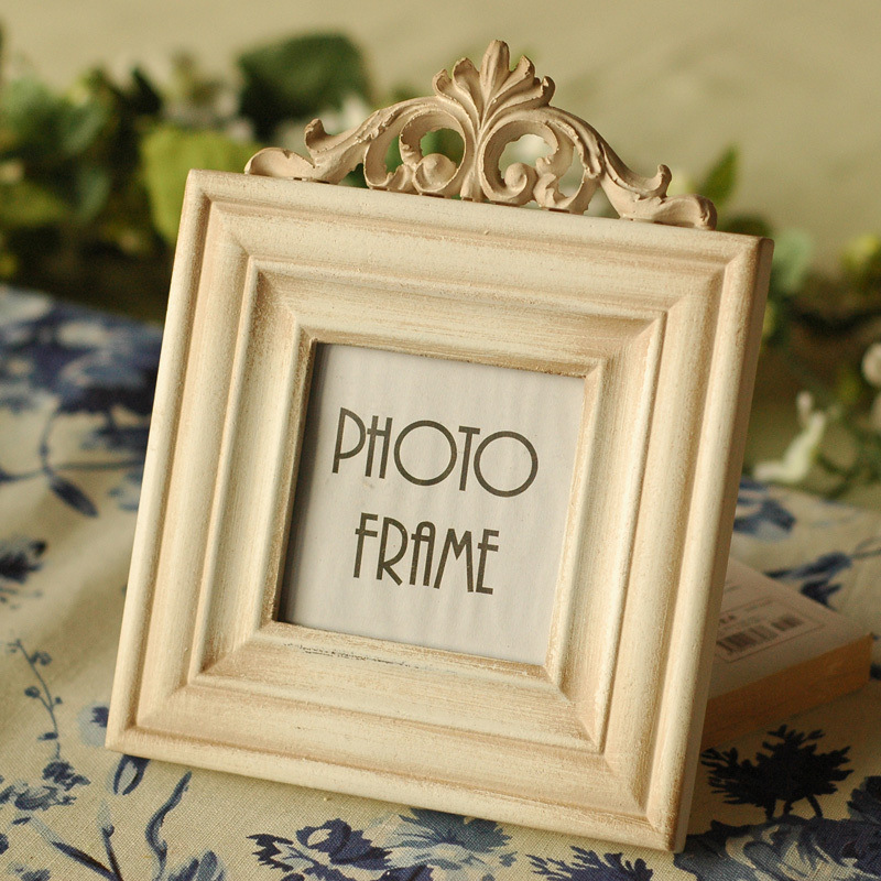 Creative Europe Style Home Decoration Frame 3 Inch Retro Wood Craft Photo Frame Home Ornaments porta retrato Picture FramesCreative Europe Style Home Decoration Frame 3 Inch Retro Wood Craft Photo Frame Home Ornaments porta retrato Picture Frames