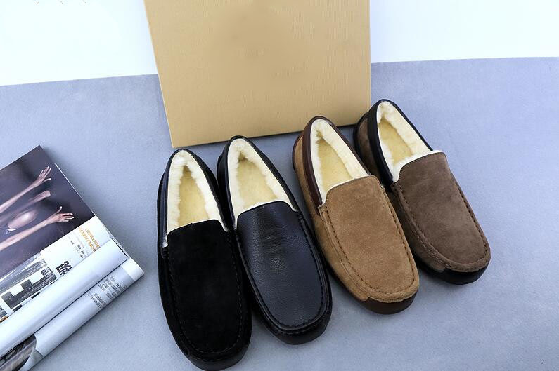 Sera's Runway Store New men loafers men Winter newest casual shoes sewing decoration slip-on light men fashion warm boat shoes brown black khaki