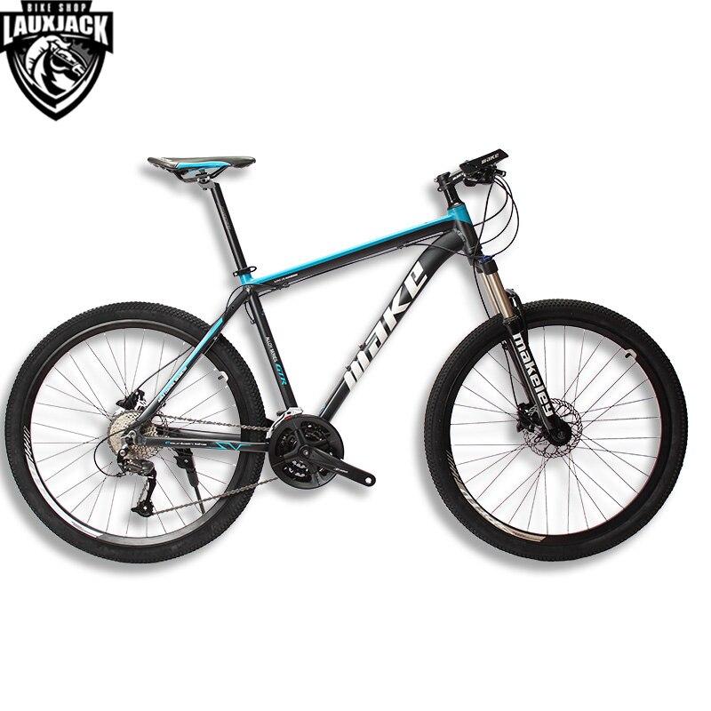 MAKE Горный велосипед алюминиевая рама 17 19 Shimano 27 скоростей 26 27,5 колеса гидравлический/механический тормоз MTB