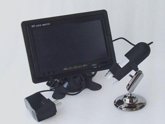 AV 1200X Microscope High Resolution CMOS Borescope 8-LED Applicable AV Port Monitors LCD TV,7