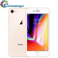 המקורי סמארטפון Apple iphone 8 זיכרון RAM 2 GB ROM 64 GB 4.7 inch Hexa Core 12MP 1821 mAh טלפון נייד טביעת אצבע iphone8 iOS 11 LTE