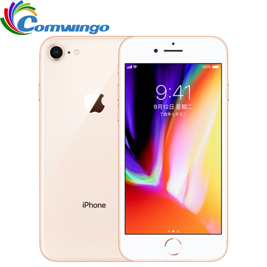Original desbloqueado apple iphone 8 Ram 2 GB ROM 64 GB 4.7 pulgadas hexa Core 12mp 1821 mAh IOS 11 LTE fingerprint teléfono móvil iPhone 8