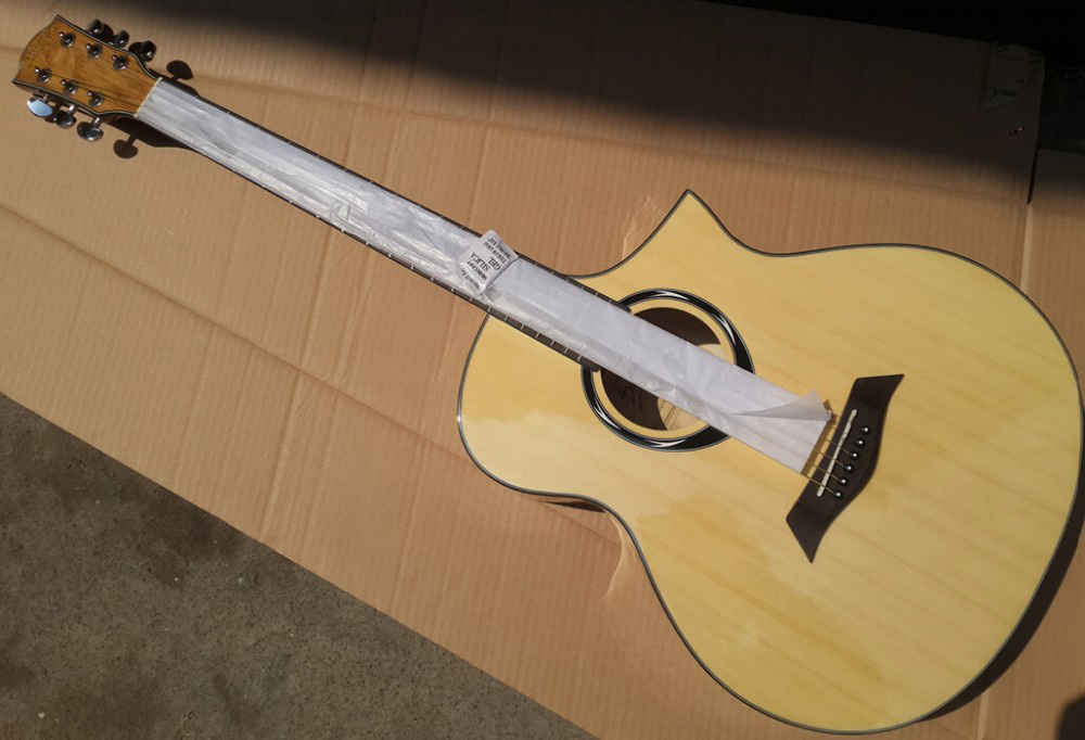 good guitarra sharp cutway acoustic guitar 40inch high quality with free stringgood guitarra sharp cutway acoustic guitar 40inch high quality with free string