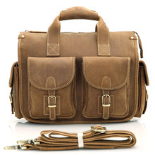 Briefcase Bags Men Cow Leather Vintage Travel Laptop  Multifunction Travel Duffle Bags for Men Large Capacity Duffel Handbags factory men travel bags duffle big duffel laptop backpack schoolbag packing large capacity folding mochila bolsas dropshiping