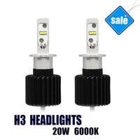 H3 LED Trucks Auto Headligh Car Bulbs H3 Conversion Kit Brightest 6000K white Lights DC 10V 40V Wholesale